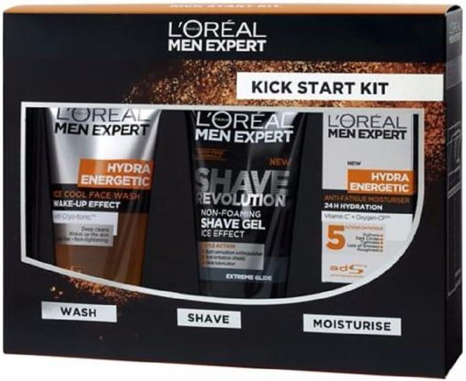 Nueva Navidad Kit de inicio–L 'Oréal Men Expert Kick Start Kit, para él, caja de regalo, goft Set. Regalo para él, nueva llegada, más reciente, nuevo, Navidad, Navidad