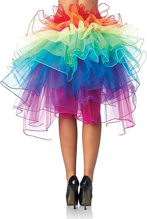 64c8576684dba Pixnor Womens Fantasy Layered Dancing Tutu Rainbow Bustle Skirt ...