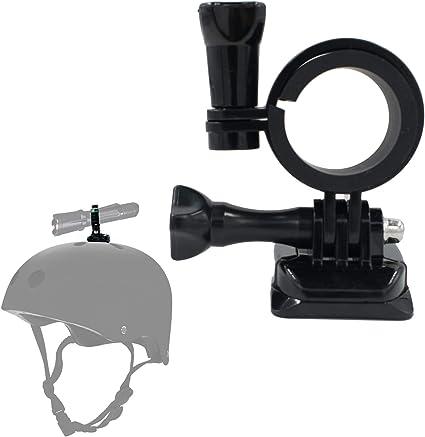 Yosoo Health Gear Helmet Torch Holder Portable Helmet Flashlight Mount Helmet Flashlight Bracket for MICH IBH FAST Helmet Rail Only Mount