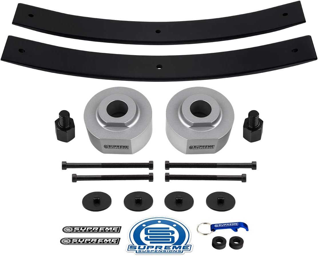 Amazon Com Supreme Suspensions Full Lift Kit For 1983 1996 Ford Ranger 2 Front Lift Spring Spacers 2 Rear Lift Short Add A Leaf Springs 3 4 Stud Extenders 2wd Silver Automotive
