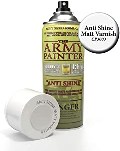 The Army Painter Anti Shine Matt Varnish for Miniature Painting - After Quickshade Matte Top Coat Acrylic Spray Varnish for Miniatures - Matte Finish Spray for Acrylic Model Paint, 400ml, Can