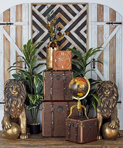 Benzara 77157 Polystone Lions Pair 24''W, 32''H, Gold Animal Statue by Benzara (Image #6)