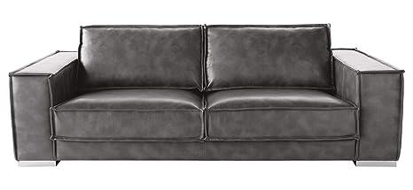 Enjoyable Amazon Com Sunpan Modern Baretto Leather Sofa Grey Uwap Interior Chair Design Uwaporg