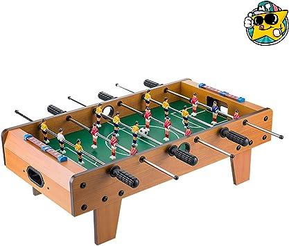 Mesa de fútbol para niños doble mesa manual máquina de fútbol mesa juguete para niños máquina de fútbol de madera pequeña portátil: Amazon.es: Juguetes y juegos