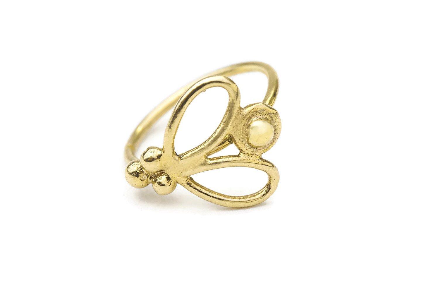 Studio Meme Designer Handmade Nose Rings available in Solid 14k Yellow Gold 16 Gauge 7-9mm