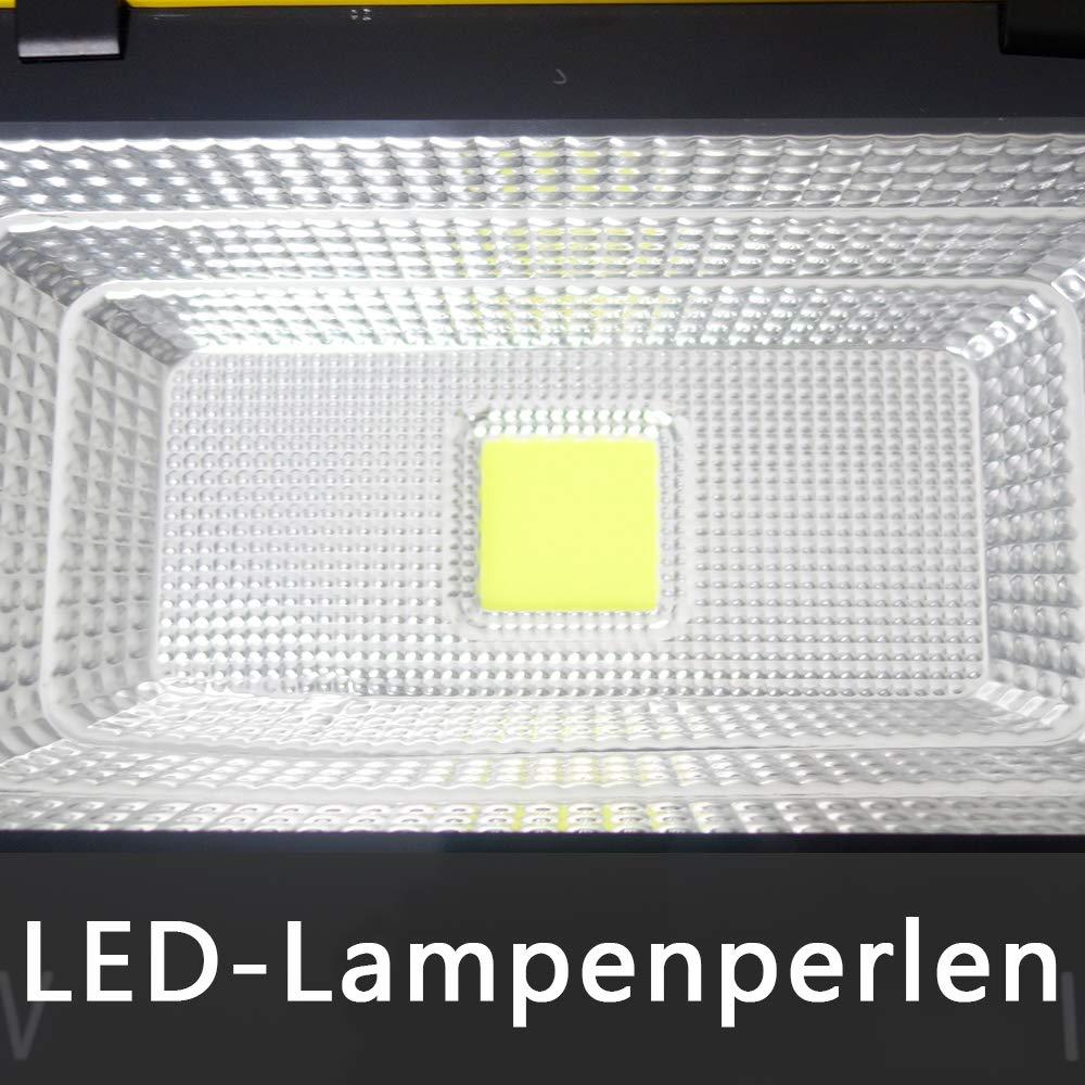 Froadp 20W Baustrahler LED Arbeitsleuchte Akku Strahler Au/ßen Kaltwei/ß IP65 Flutlicht