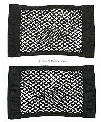 javoedge 2 pack medium nets hook and loop adhesive tape storage net car accessories interior. Black Bedroom Furniture Sets. Home Design Ideas