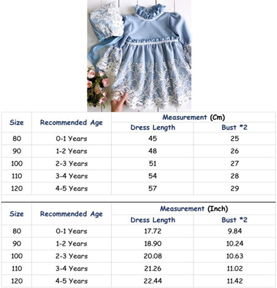 Gorro Muchacha 0-18 Meses 3 Piezas Vestidos de Bautizo Boda Fiesta de la Ni/ña Vestido de la Flor del Encanje Falda de la Princesa del Cumplea/ños para la Ni/ña Falda Chaqueta