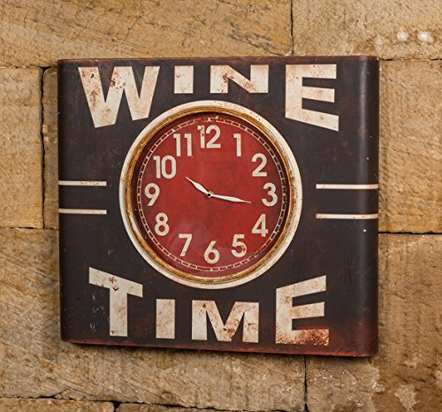 Large Hanging Wine Time Clock