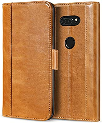 newest f5673 cdee5 ProCase LG V30 Genuine Leather Case, Vintage Wallet Folding Flip Case with  Kickstand Card Holder Protective Cover for LG V30, LG V30 Plus, LG V30S ...