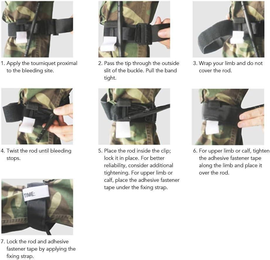 Lixada Combat Application Tourniquet Cisailles Trousse de Secours Urgence Tactique Militaire