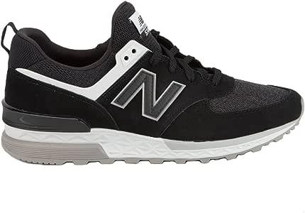 New Balance Zapatillas de Deporte en Ante Negro MS574: Amazon.es ...