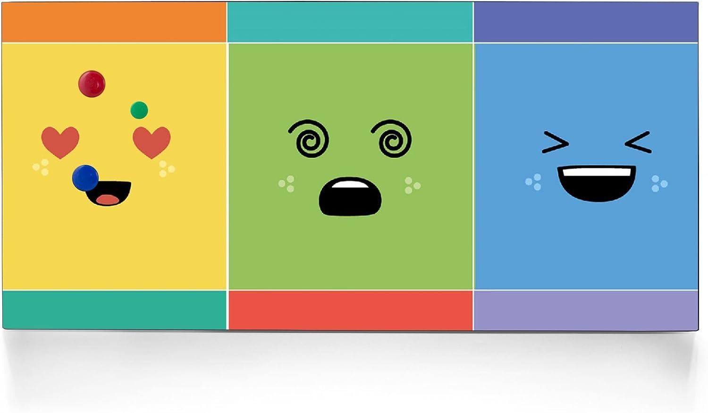 Negra Pizarra magnética de Banjado/Diseño Memo Board 37 x 78 cm/metal tablón con diseño NUEVE sin nariz Nueve sin nariz: Amazon.es: Oficina y papelería