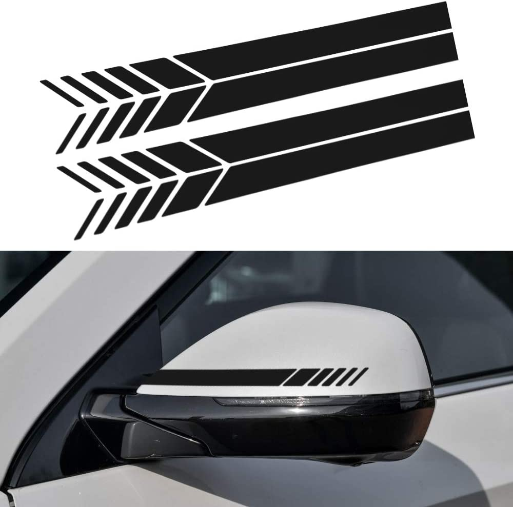 2X Car Side Body Waterproof Vinyl Decal DIY Car Styling Decoration Sticker Black