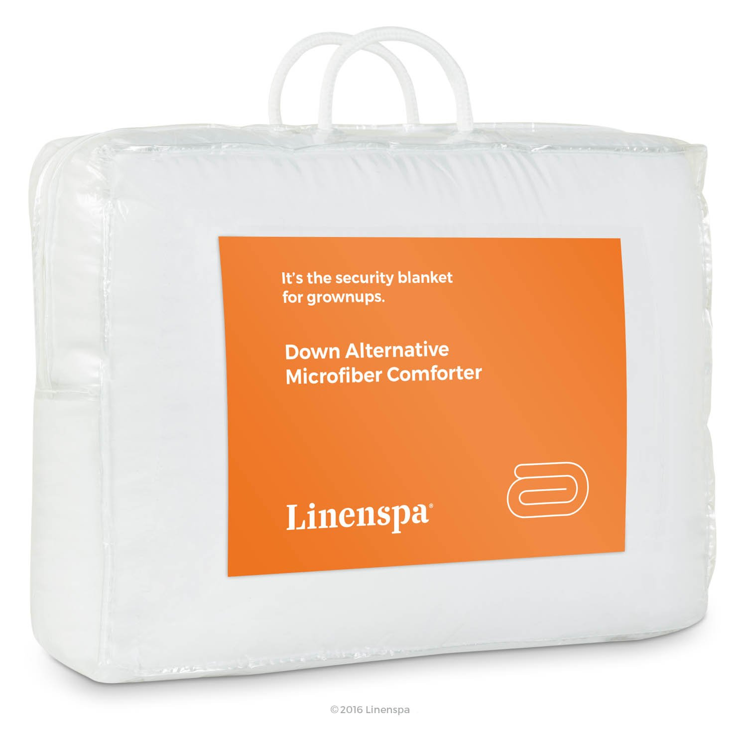 Linenspa White Goose Down Alternative Comforter With