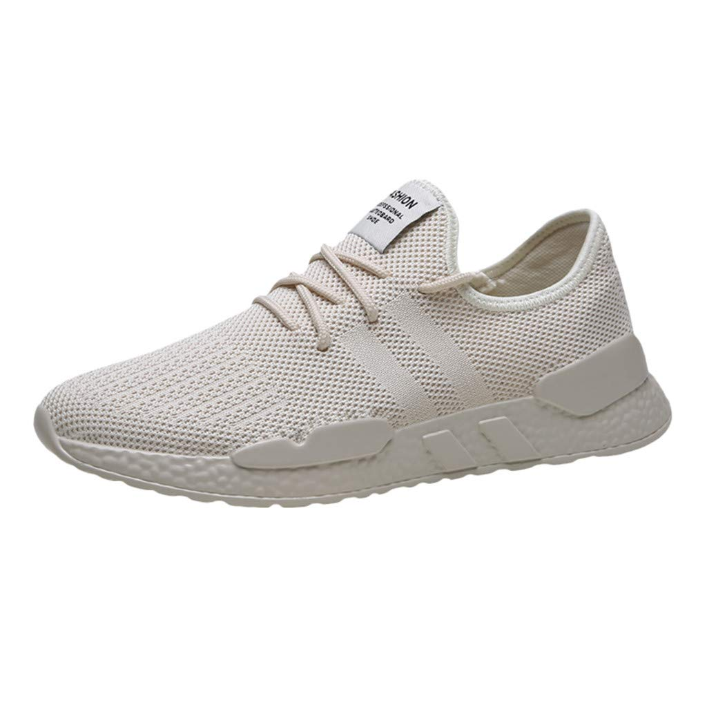 Men's Mesh Sneakers Lightweight Running Shoes Summer Fashion Woven Mesh Soft Sole Casual Athletic Breathable