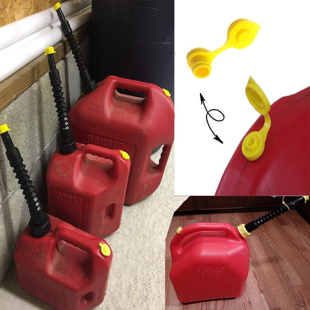 ORANDESIGNE 6 Fuel Gas Can Vent Cap Gas Jug Breather Part for Most Older Style Gott Rubbermaid Rubbermade Essence Briggs /& Stratton Kolpin Rotopax Fuel Diesel Kerosene Container