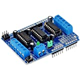 HiLetgo L293D DC Motor Drive Shield Stepper Motor Drive Shield Expansion Board for Arduino Duemilanove Raspberry Pi
