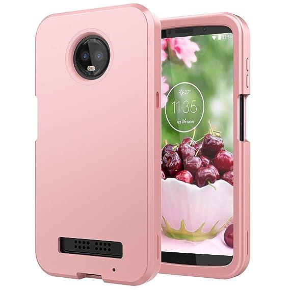 quality design 0fcac c2970 Amazon.com: Motorola Moto Z3 Play Case, WeLoveCase Moto Z3 Case 3 in ...
