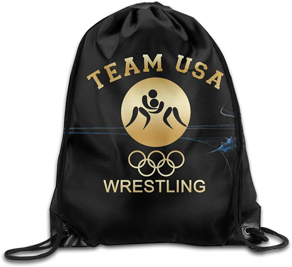 Rio 2016 Olympic Team USA Gold GYM Drawstring Backpack Bag