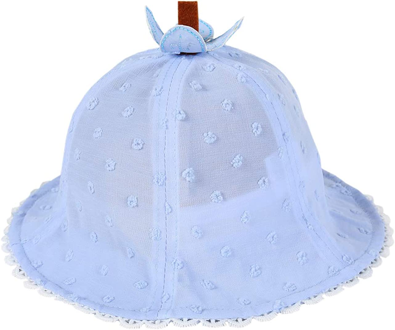 ACVIP Little Girls Princess Bunny Shaped Summer Bucket Hat Sun Protection