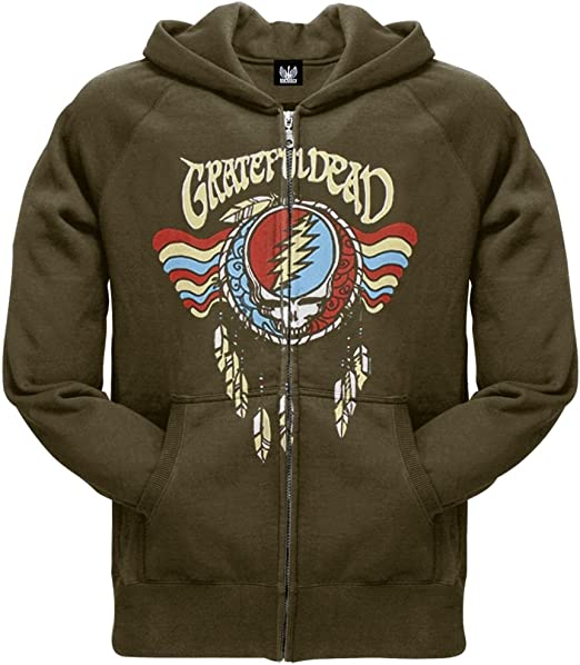 Old Glory Grateful Dead Black /& White Calaveras Light Blue Youth Zip Hoodie