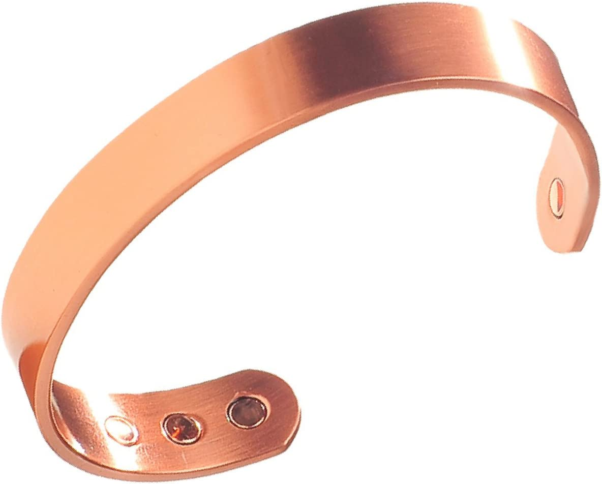 Earth Therapy Men's Pure Copper Magnetic Healing Golf Bracelet for Sport Injury Recovery, Arthritis, and Joint Pain Relief - Adjustable Sizing - Sourced: Sports & Outdoors