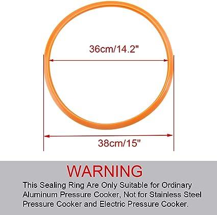 28 mm de di/ámetro exterior Sourcingmap juntas de sellado de anillos rojo 10 mm Junta t/órica de silicona 4.8mmx11mmx3.1mm