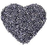 mookaitedecor 1 lb Tumbled Chip Stones Crushed Tumblestone Crystals Healing Home Decoration,Blue Sand Stone