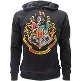 Harry Potter Felpa con Cappuccio Scuola Hogwarts Simboli 4 Case - Ufficiale Warner Bros