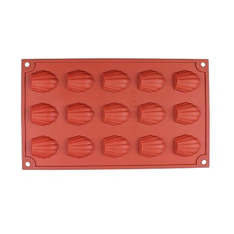 lemarle 15-cavity casera molde de silicona antiadherente para tarta de galletas Chocolate Candy de