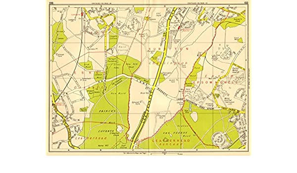 London Sw Map.Amazon Com London Sw Chessington Claygate Oxshott Surbiton Epsom