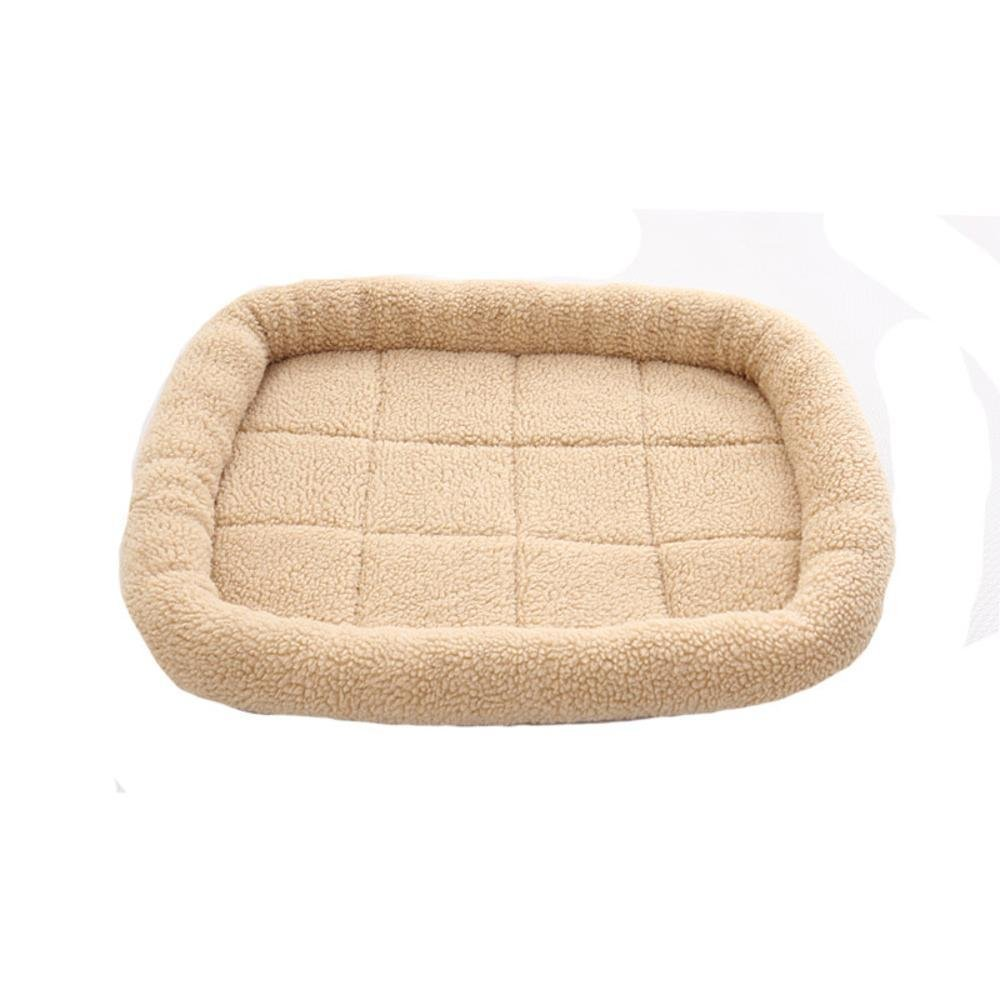 C 5040cm C 5040cm MONFS HOME Pet Bolster Dog Bed Comfort Pet Mat Summer Air conditioning dog mat resistant lamb fleece Pet Nest Mat (color   C, Size   50  40cm)