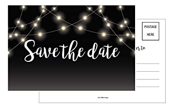 amazon com save the date cards 50 4x6 black and white rustic