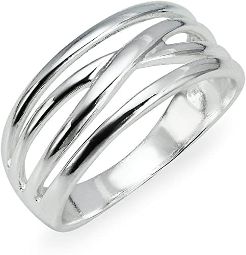 Braided Celtic Band .925 Sterling Silver Ring Sizes 5-10