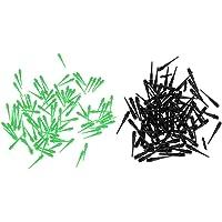 Baoblaze 200 Pedazos de Puntas Suave de Dardo Pieza de Recambio de Deportes de Interior Negro+Verde
