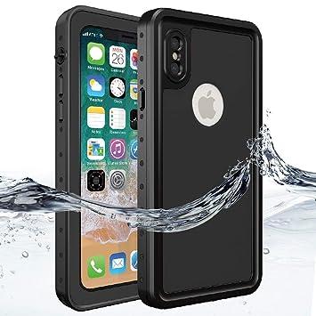 d5a541b6c59 Funda Impermeable iPhone X, HWeggo Carcasa resistente al agua al agua con  certificación IP68 bajo el agua cubierta de protección Caso para iPhone X  5.8 ...