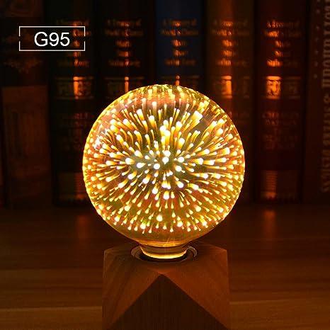 AIMENGTE 3D Firework Led Bulb, 3D Fireworks Light Bulb, E27 AC85V-265V 4W