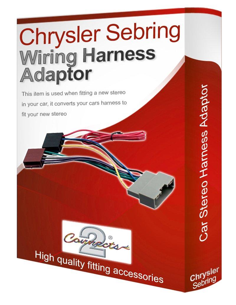 chrysler sebring cd radio stereo wiring harness adapter lead loom iso  converter