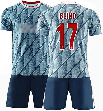 Camiseta de fútbol para Hombres Camiseta de fútbol Personalizada # 17 Ciego # 7 Neres Camisa de fútbol de 20-21 Temporadas Retro Camisetas y Pantalones Cortos Kits Ropa Deportiva Traje de entrenami: