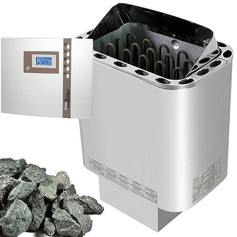 Sawo Nordex estufa para sauna 8 kW + de sauna EOS emotec B 6000 para la