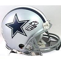 $205 » Emmitt Smith Autographed Dallas Cowboys Mini Helmet-Beckett W Black F/B