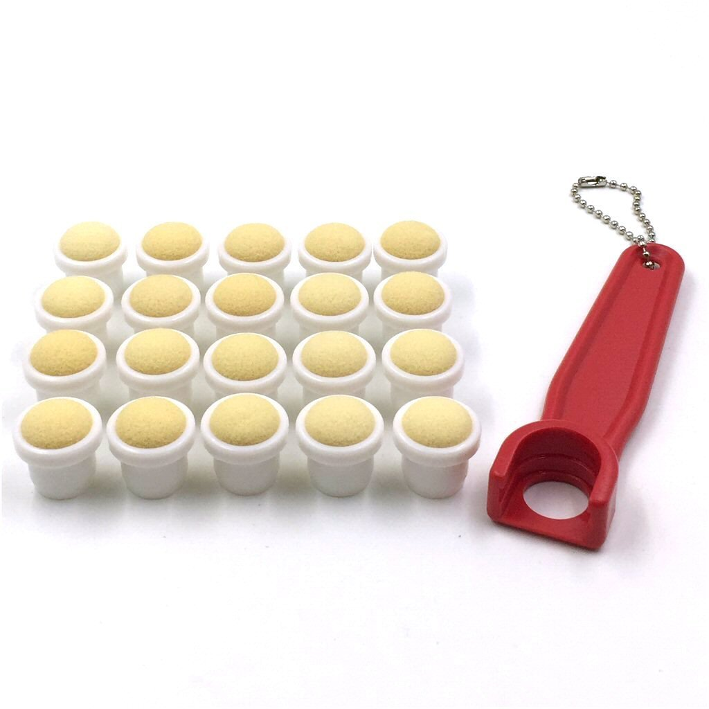 Bingo Dauber Plain Tips 20-pk and EZ Lift Dauber Tip Removal Tool - Blue Tapp Collections