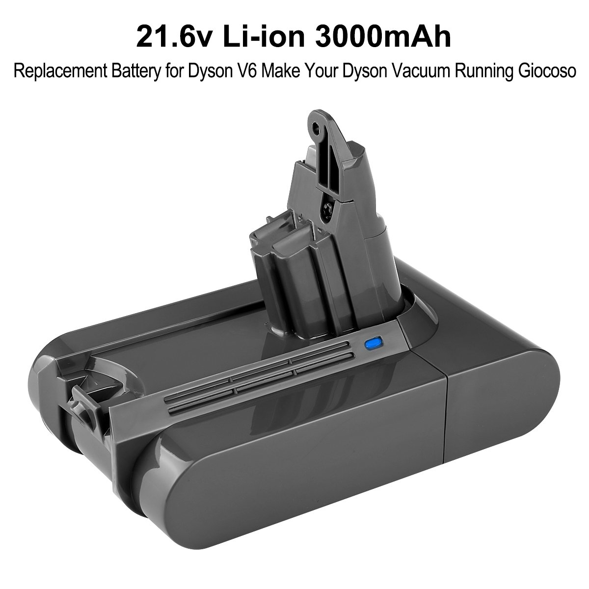Energup Upgraded 21.6V 3000mAh Li-ion Battery for Dyson V6 595 650 770 880 DC58 DC59 DC61 DC62 Animal Handheld Replacement Battery(with a Free Dyson Filter Replacements) by Energup (Image #2)