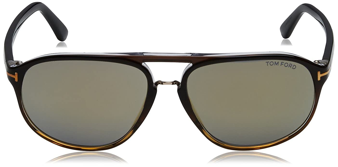 bfd68de479c Tom Ford Sunglasses TF 447 Jacob Sunglasses 52B Tortoise 60mm at Amazon  Men s Clothing store