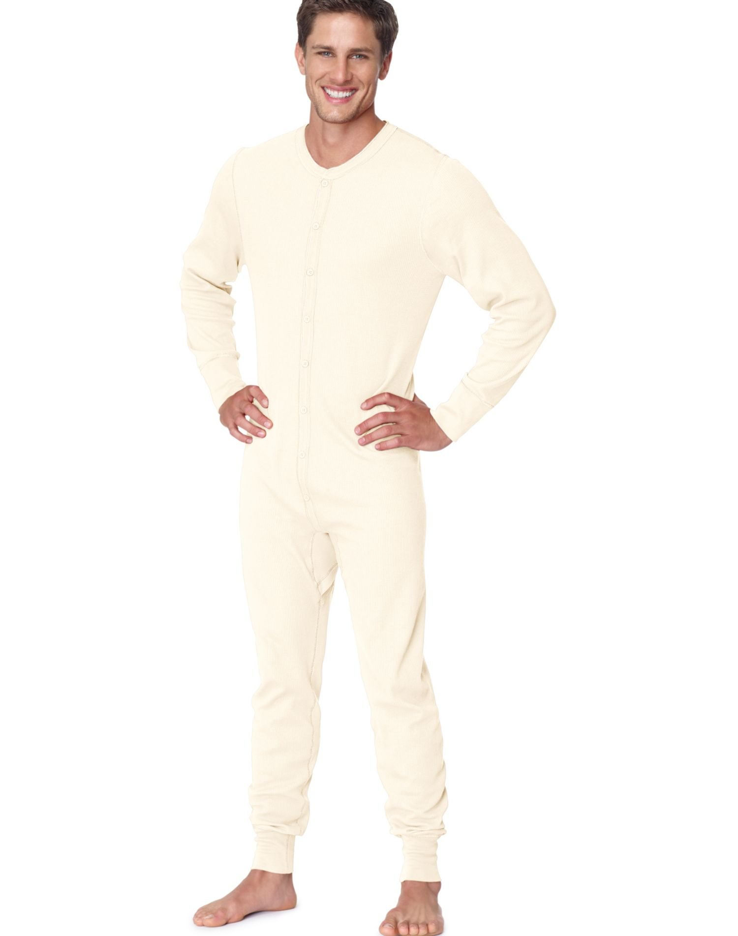 Hanes Men's X-Temp Thermal Union Suit - Extended Sizes, Natural, 4X-Large by Hanes