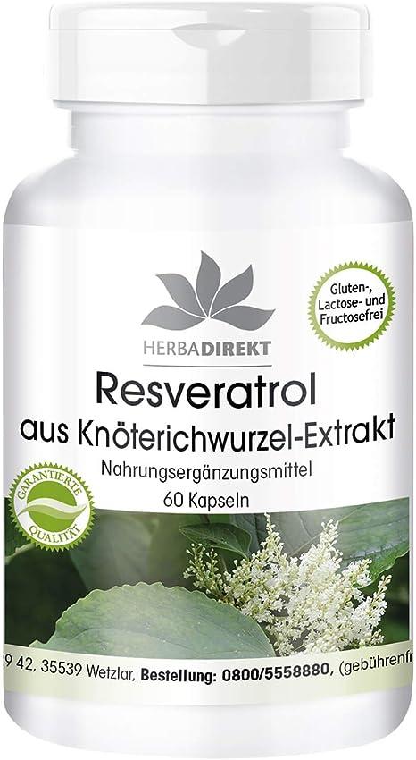 Herba Direkt Resveratrol 500mg From Knotweed Extract Vegan 60