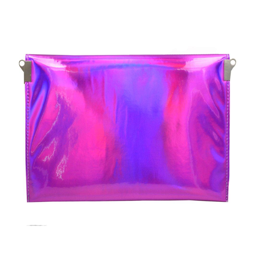 Meliya Mujer Bolsa de hombro cadena holográfica láser piel sintética sobre embrague bolso monedero, mujer, hot pink: Amazon.es: Deportes y aire libre