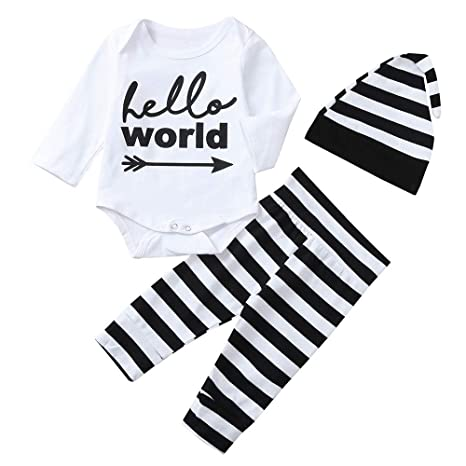 274442f321c96 Fineser Baby Clothes Baby Kids Outfits, 3Pcs Infant Toddler Baby Boy ...