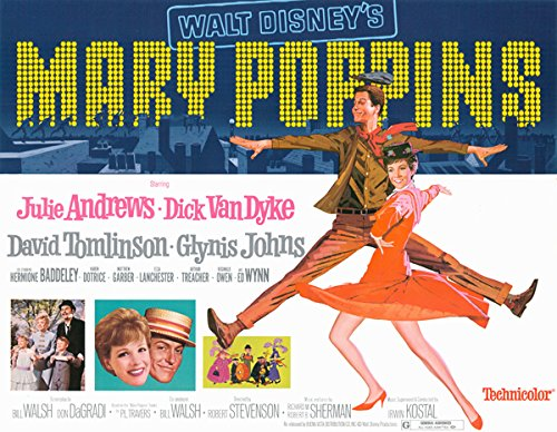 Mary Poppins original 11x14 lobby card Re-Release 1980 title card Julie Andrews from Silverscreen